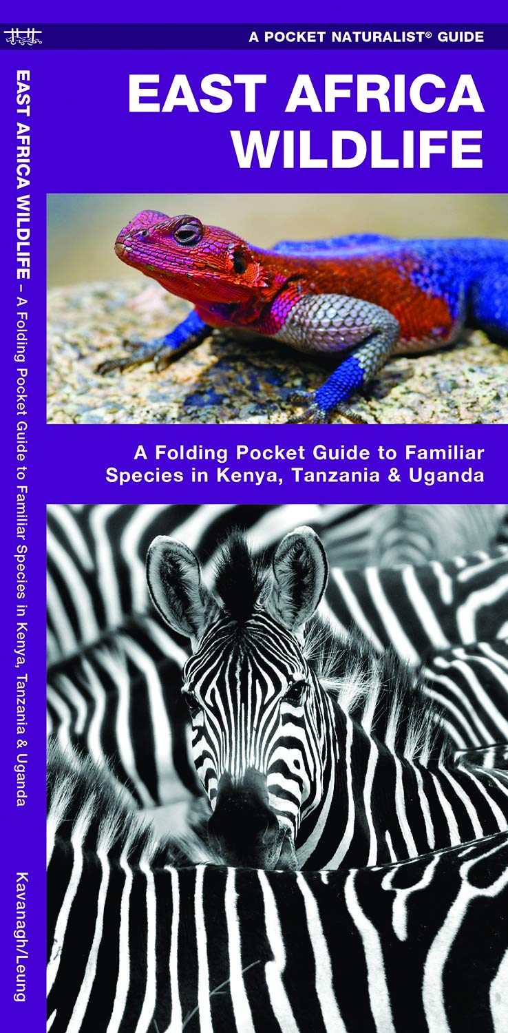 East Africa Wildlife: A Folding Pocket Guide to Familiar Species in Kenya,  Tanzania &