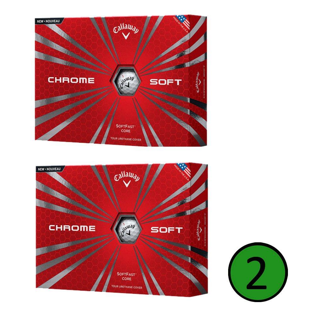 Paquete de 12 bolas de golf, suaves, cromo, Callaway, White (2 Dozen)