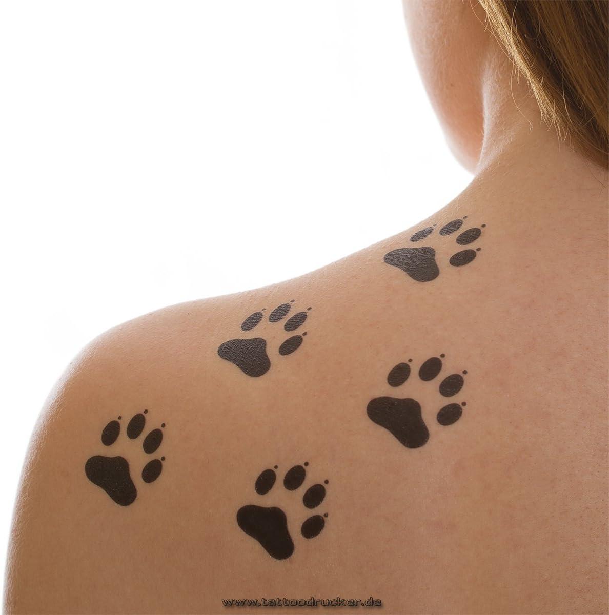 Little Paws tatttoos – negro animal patas Tatuajes Temporales ...