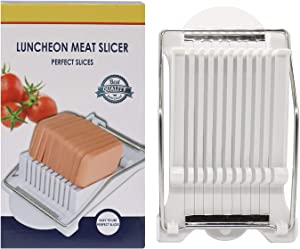 HuiYouHui Luncheon Meat Slicer Stainless Steel Durable Luncheon Meat Slicer,Certified Safety, Slice Meats, Fruit and Soft Cheeses, Egg Slicer, Soft Food Slicer Sushi Cutter Canned Meat Slicer