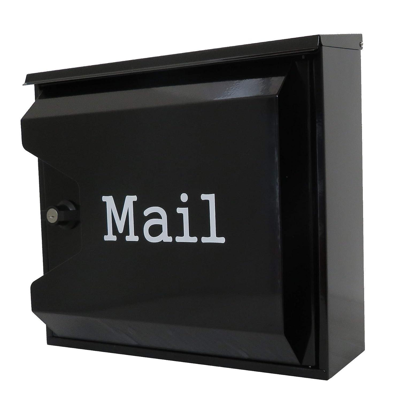 アイホーム(Ihome) 郵便ポスト pm04 pm043 大容量 ブラック 奥行14.5×高さ33×幅35.5cm   B071FBVKKW