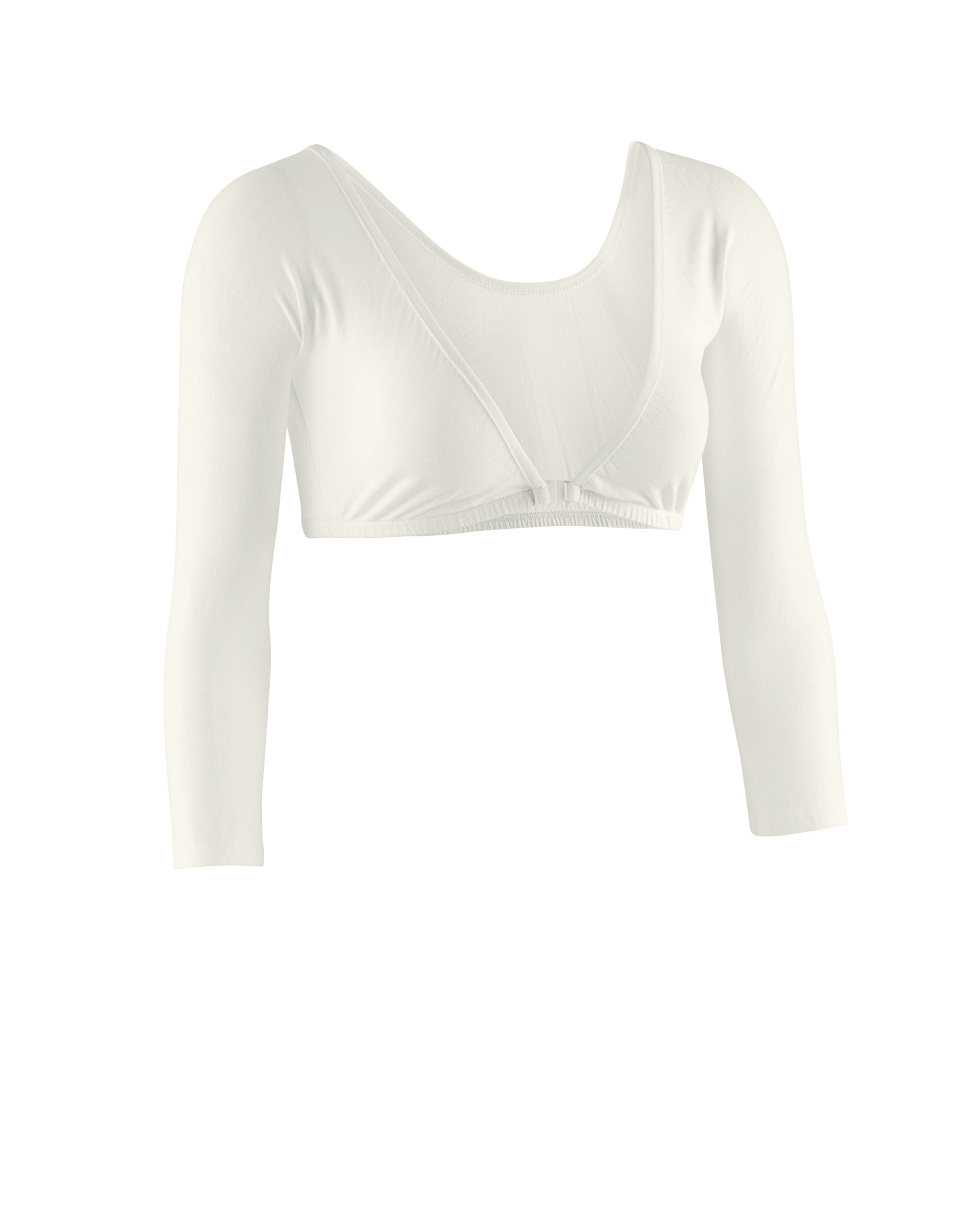 Sleevey Wonders Women's Basic 3/4 Length Slip-on Jersey Sleeves L Off-White