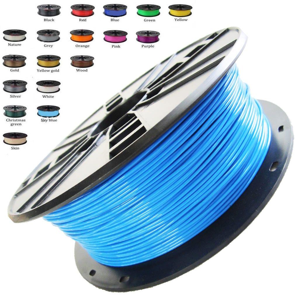 melca 1,75 3d impresora filamento pla 1 kg +/-0,03 mm, cielo azul ...