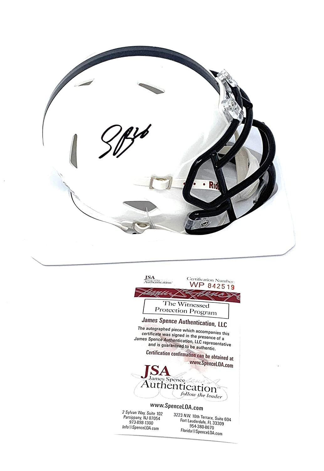 Saquon Barkley Penn State Nittany Lions Signed Autograph Speed Mini Helmet JSA Witnessed Certified