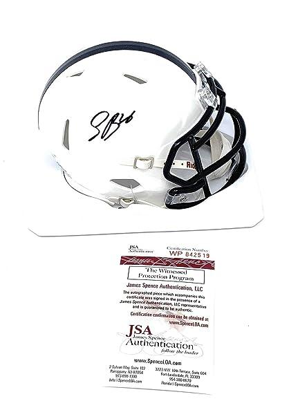 f1a64c5b1 Saquon Barkley Penn State Nittany Lions Signed Autograph Speed Mini Helmet  JSA Witnessed Certified
