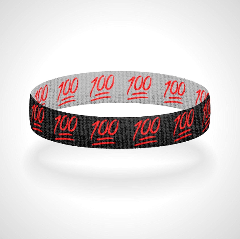 Reversible Keep It 100 Bracelet Wristband