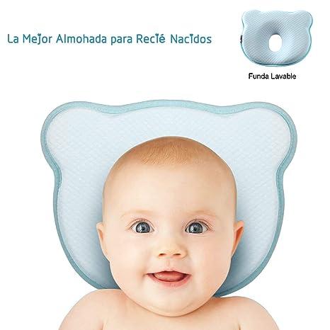 a9d646b1 OD Almohada Bebé para Plagiocefalia con Funda Lavable Almohada para Bebé  Recien Nacido 0~12 Meses para Prevenir la Plagiocefalia y Cabeza Plana  Almohada ...