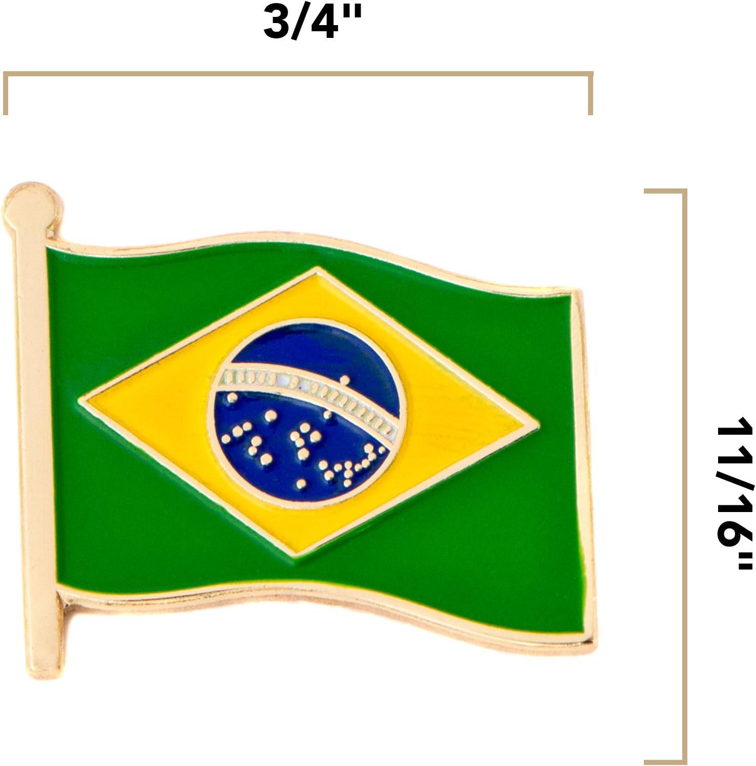 Brasil bandera de país – Pin de metal souvenir: Amazon.es: Juguetes y juegos