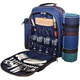 Blue 4 Person Picnic Hamper Backpack