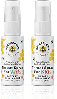 product image for BEEKEEPER'S NATURALS Propolis Throat Spray for Kids - 95% Bee Propolis Extract - Natural Immune Support & Sore Throat Relief - Has Antioxidants & Gluten-Free, 1.06 oz (Pack of 2)
