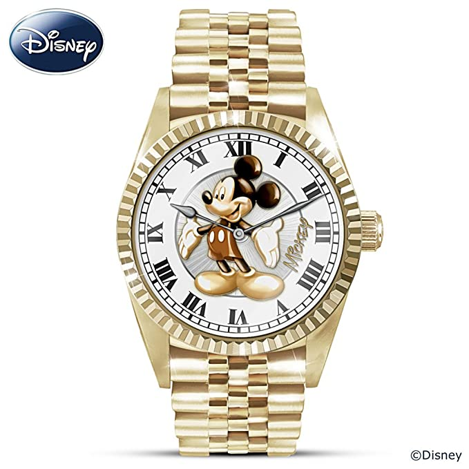 Disney Treasured Moments With Mickey Mouse Men's Watch With Presentation Case by The Bradford Exchange