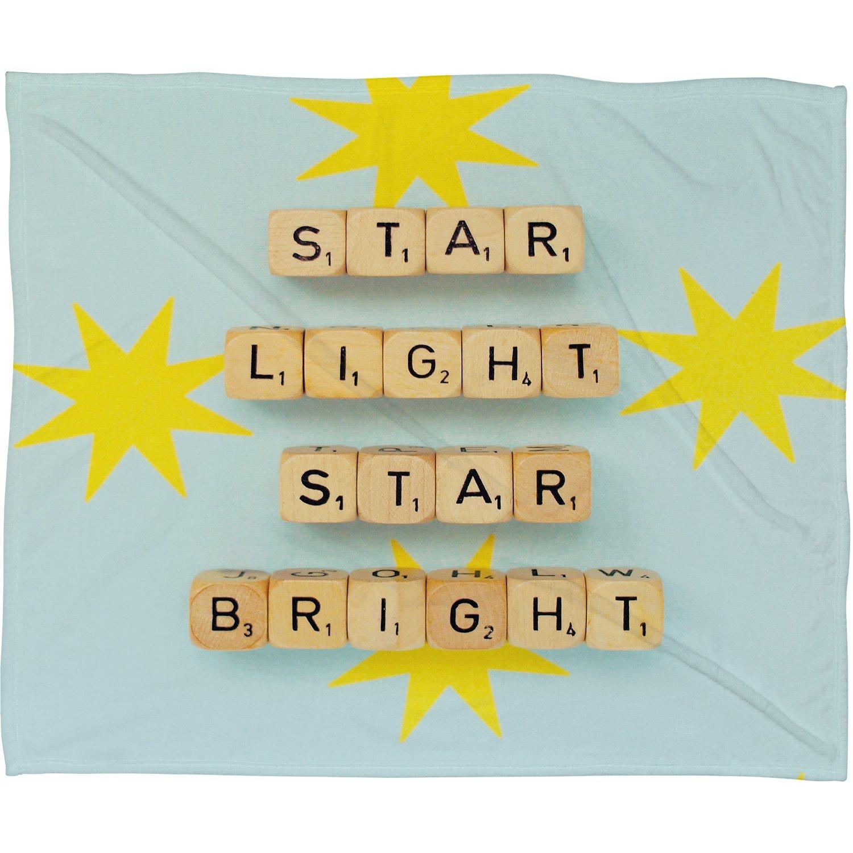 Small Star Light Star Bright Deny Designs Happee Monkee 40 x 30 Fleece Throw Blanket