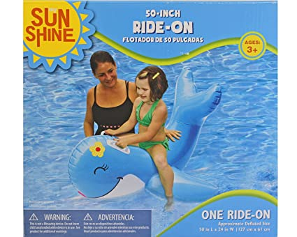 Sun Shine 50-inch Ride-On Blue Whale Float