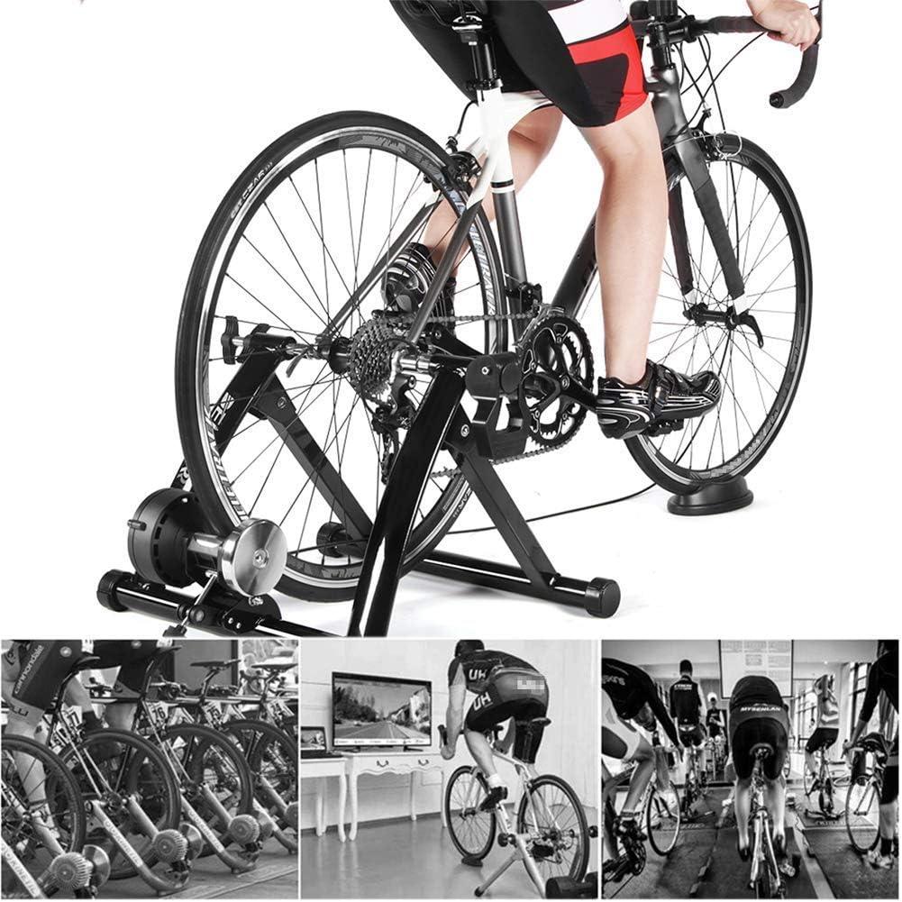 SLRMKK Bicicleta Turbo Trainer, Rueda de inercia Plegable ...