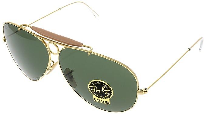 Amazon.com  Ray Ban Sunglasses Shooter Aviator Womens Browbar ... c78f4ed3ec