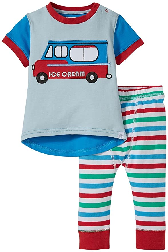 39acf816be40 Amazon.com  Rockin  Baby Baby Boys  Ice Cream Van Tee and Pants Set ...