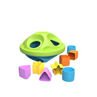 Green Toys Shape Sorter, Green/Blue: Toys & Games