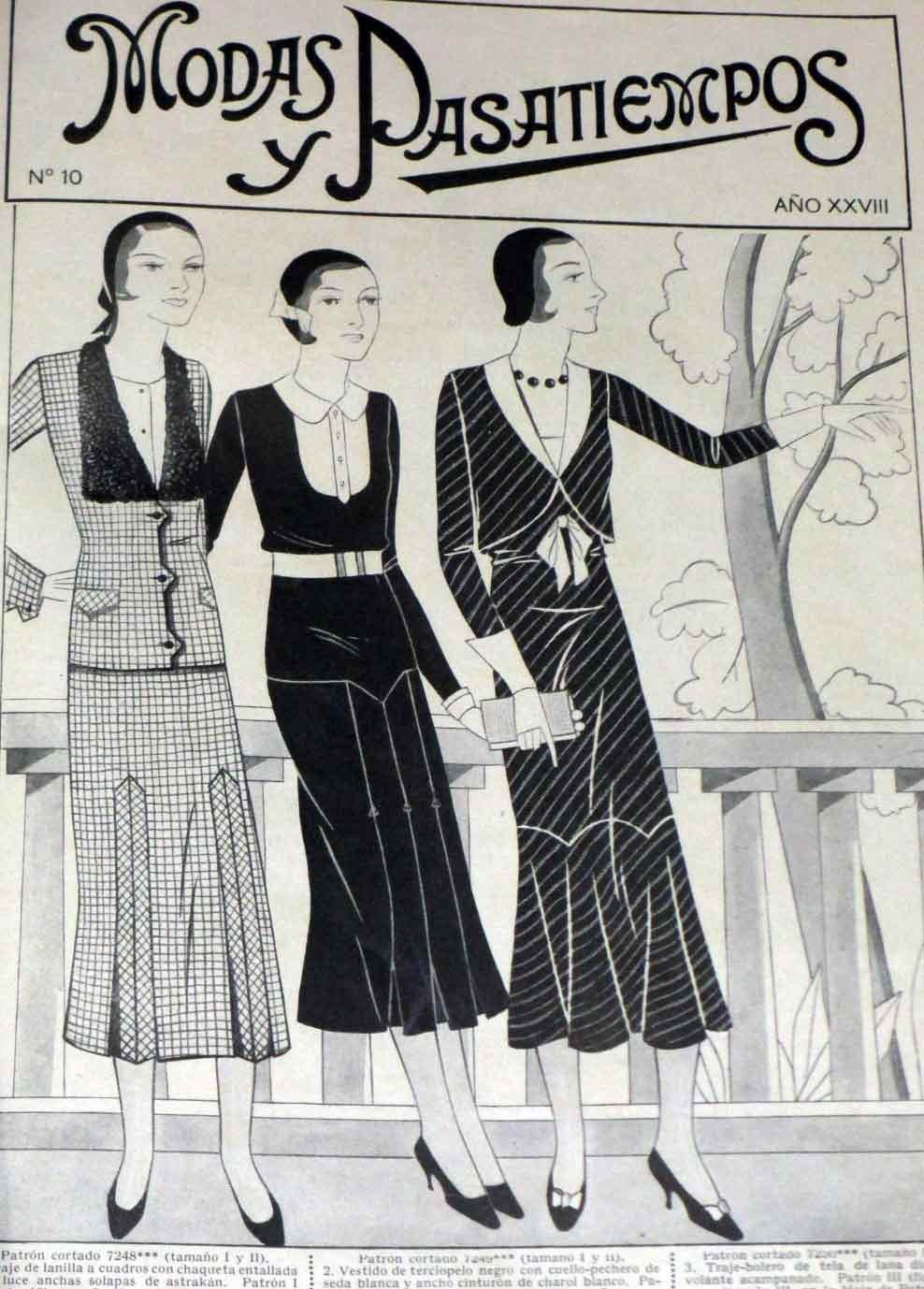 Vintage Fashion Couture Modas Pasatiempos Magazine 1931 Like Vogue has patterns at Amazons Entertainment Collectibles Store