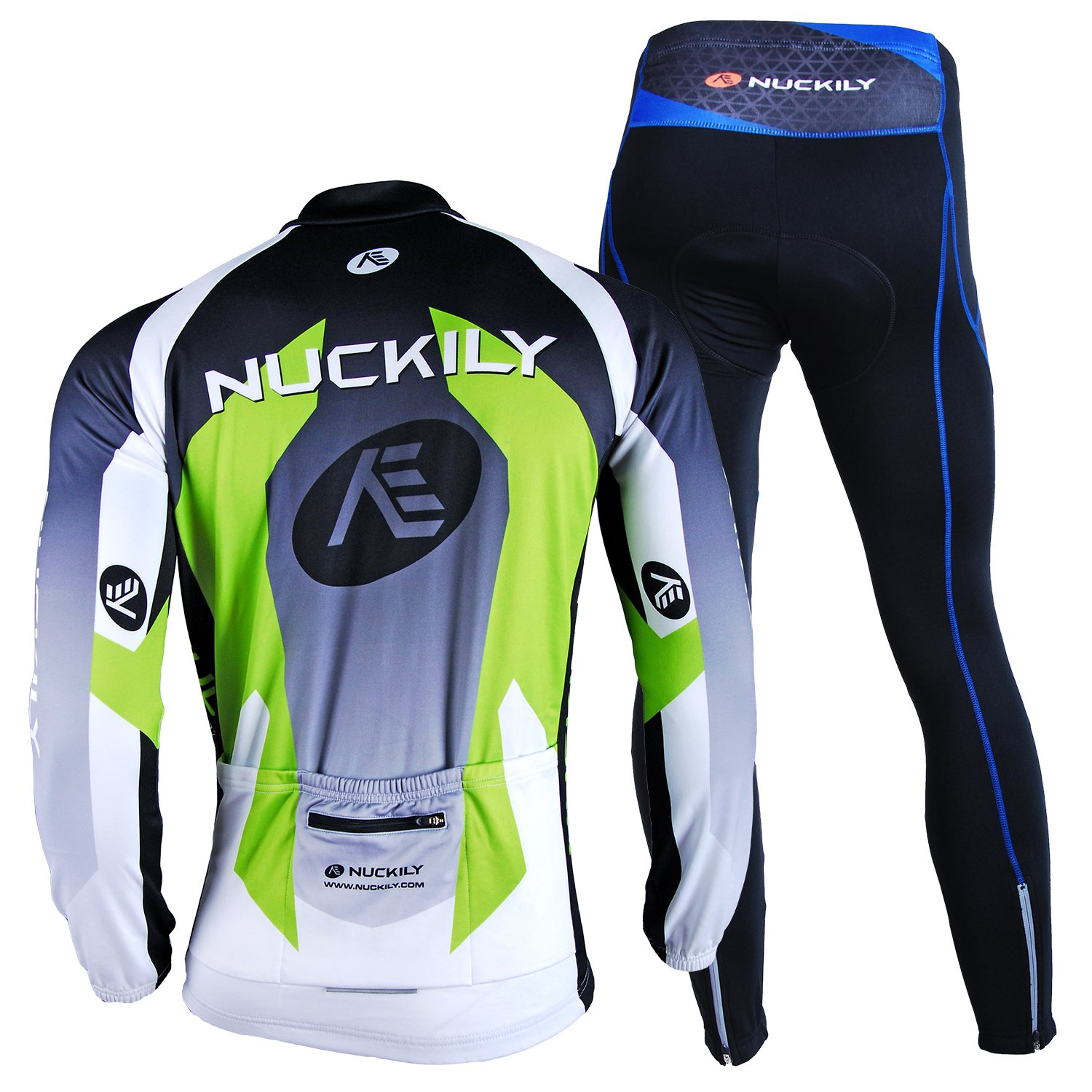 6a623cce0 NUCKILY Mens Bicycle Jersey Set Long Sleeve Fleece Cycling Jersey With  Pants Suit For Winter LTD
