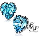 ANGEL NINA Joyería para Ella, Regalo para sus pendientes de amor puro para mujer, plata 925 con Cristales de Swarovski…