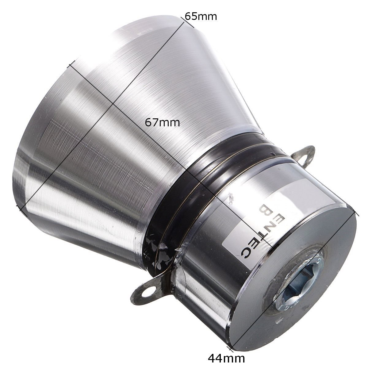 Aluminum Alloy 100W 28KHz Ultrasonic Piezoelectric Transducer Cleaner Silvery Acoustic Components