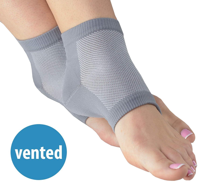 NatraCure Vented Moisturizing Gel Heel Sleeves (609-M CAT) - Size: Large