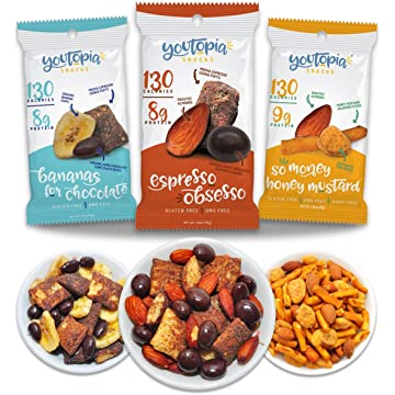 top selling Youtopia Snacks Delicious 130-calorie Snack Packs