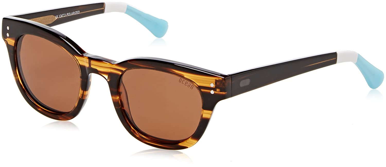 Ocean Eye Gafas de sol, Negro (Nero/bianco), 47 Unisex Adulto