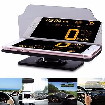 CRAVOG Heads Up display HUD coche teléfono GPS navegación imagen reflector funda para teléfono móvil GPS Soporte de coche: Amazon.es: Coche y moto
