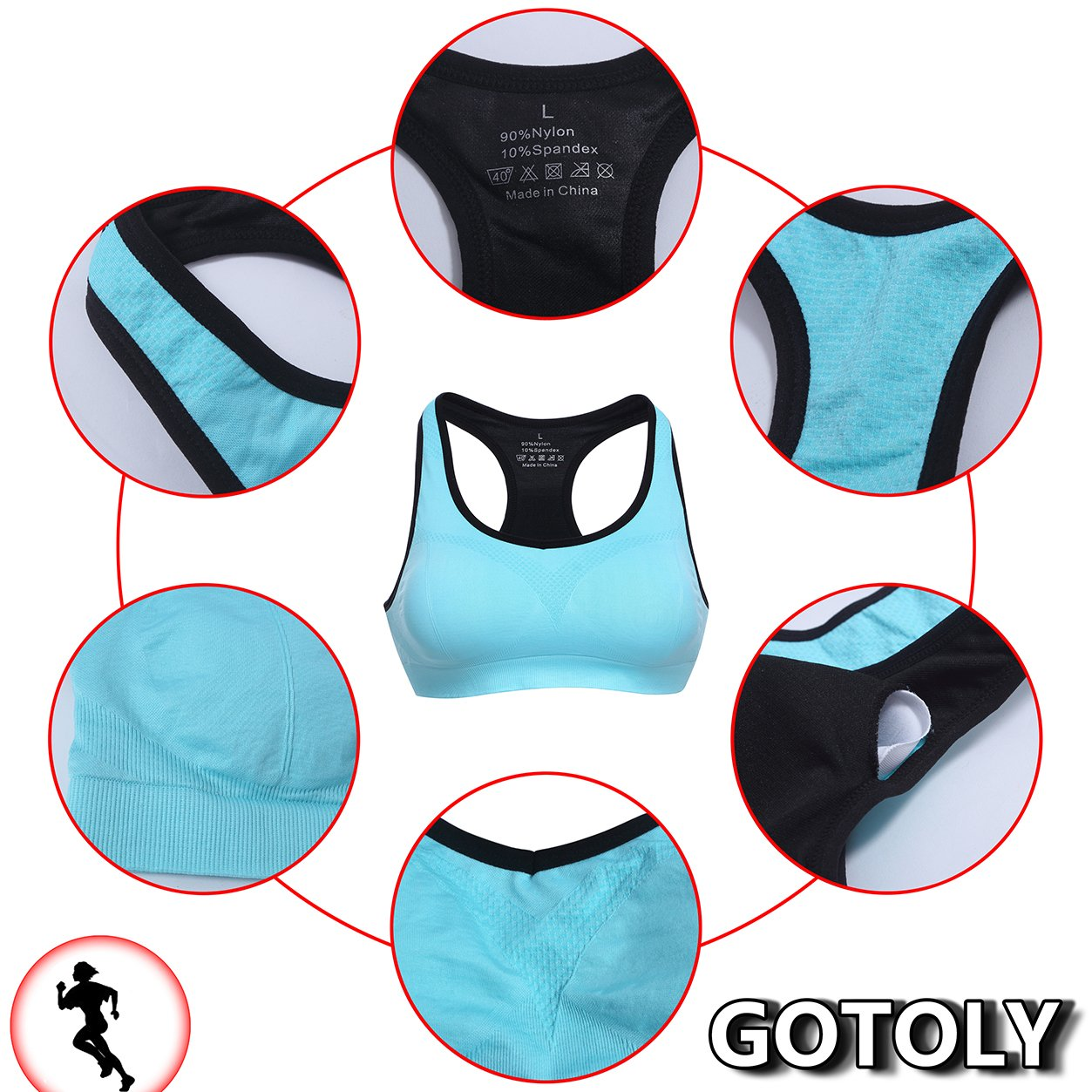 816bce663a Gotoly Jerseys Push Up Chest Shapewear Body Keep Sexy Everyday Bra   Amazon.co.uk  Clothing