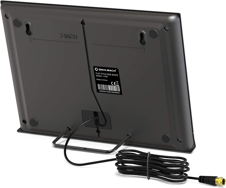 Oehlbach Flat Style One DVB-T2 HD & Dab - Antena de Interior Digital para DVB-T, Color Negro