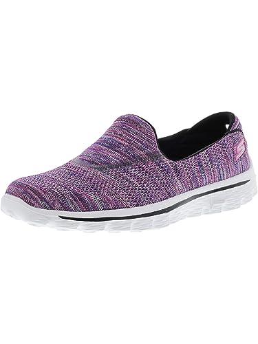 1858756fe938f Skechers Performance Women's Go Walk 2 Slip-On, Purple/Multi Knit, Size