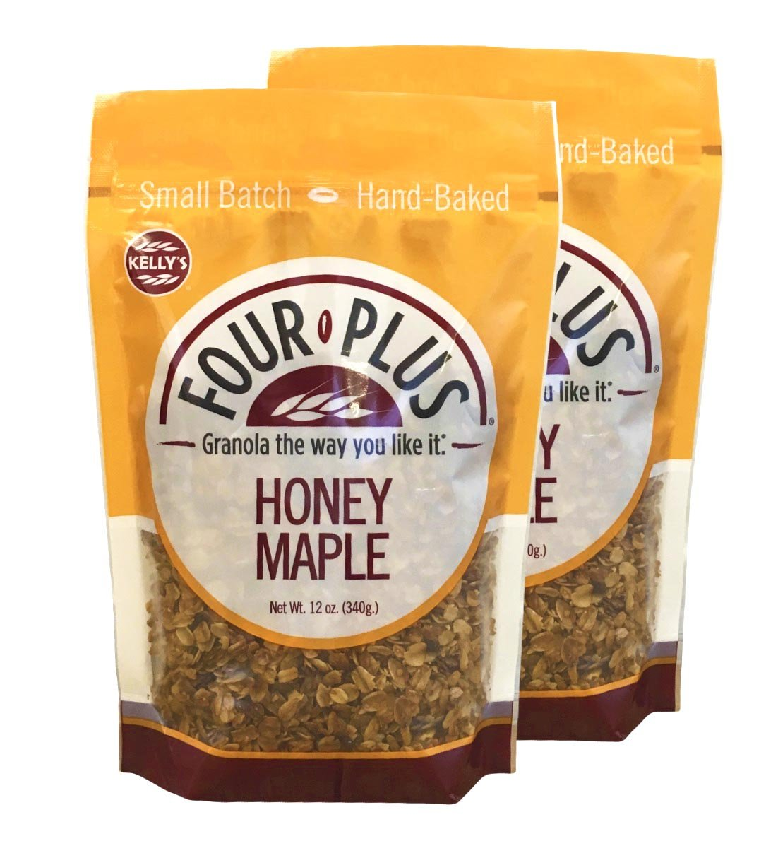 Four Plus Honey Maple Granola, 12 Ounces, 2 Count: Amazon.com: Grocery & Gourmet Food