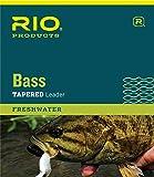 RIO Medium Stiff Nylon Bass Fly Fishing Tapered Abrasion Resistant Leaders