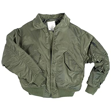00e2d3fe531 Mil-Tec US CWU Flight Jacket Basic Olive at Amazon Men s Clothing store