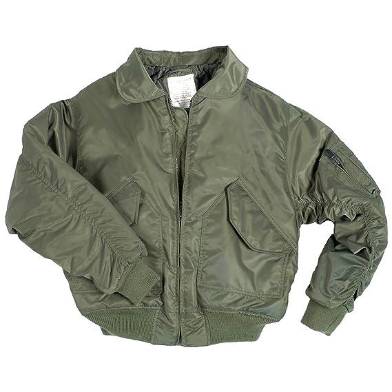Mil-Tec Men's US CWU Basic Flight Jacket Olive size M