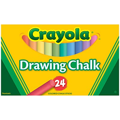 Binney & Smith Crayola(R) Drawing Chalk, Assorted Colors, Box Of 24: Arts, Crafts & Sewing