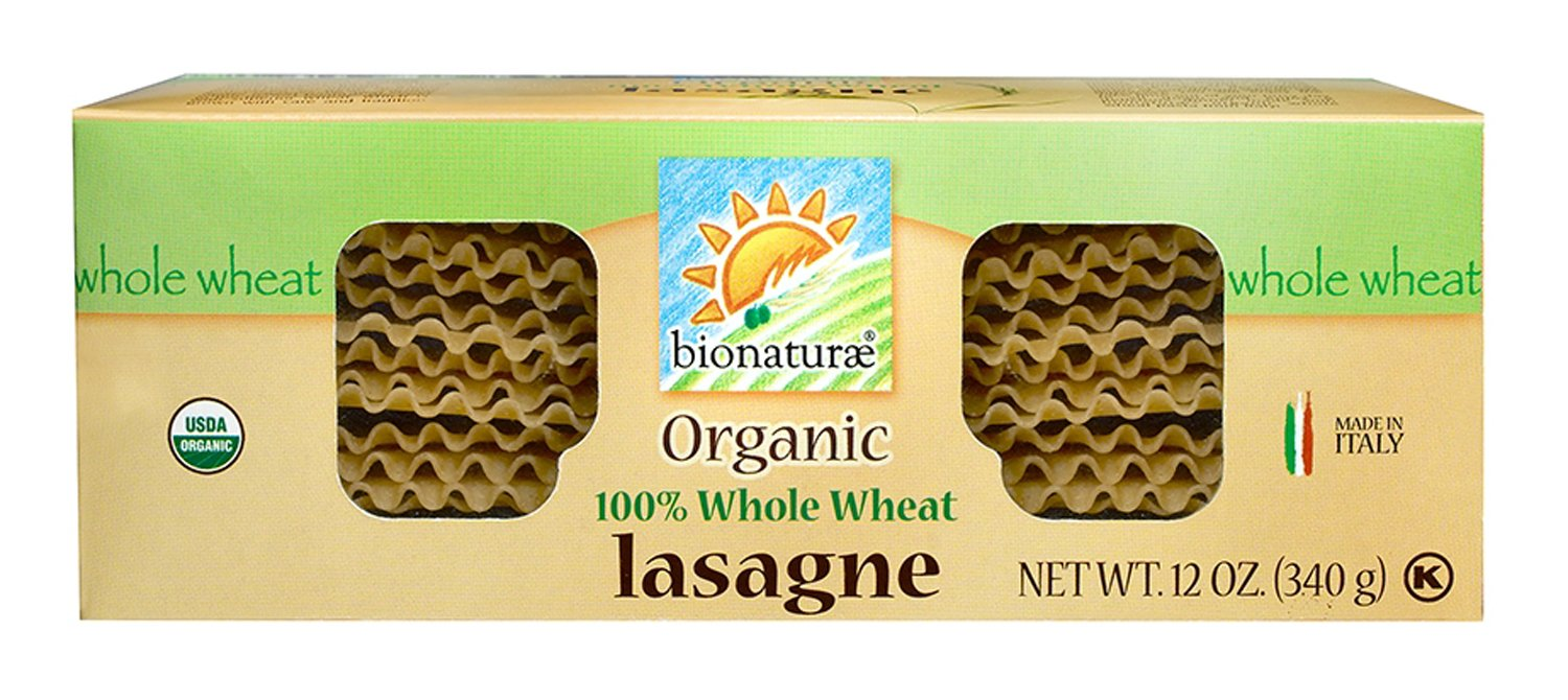 Bionaturae Lasagna Whole Wheat Pasta, 12-Ounce (Pack of 12)