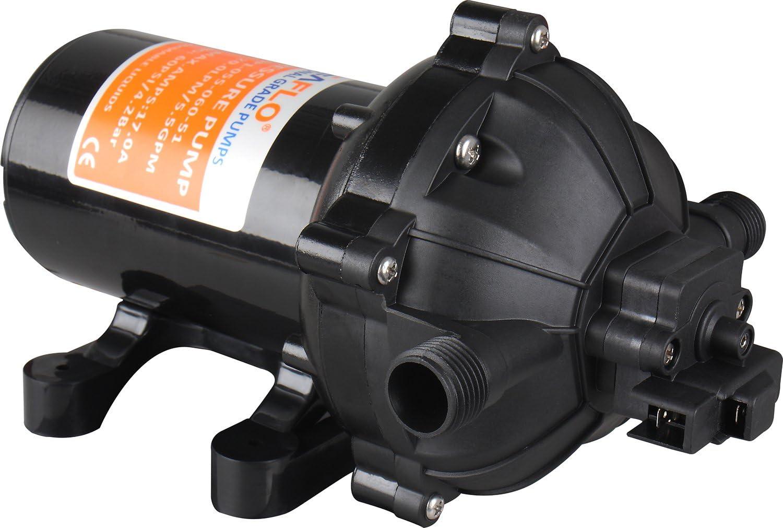 Amarine-made 12V Water Pressure Diaphragm Pump 18.9 L//min 5.0 Gpm 60 Psi Marine