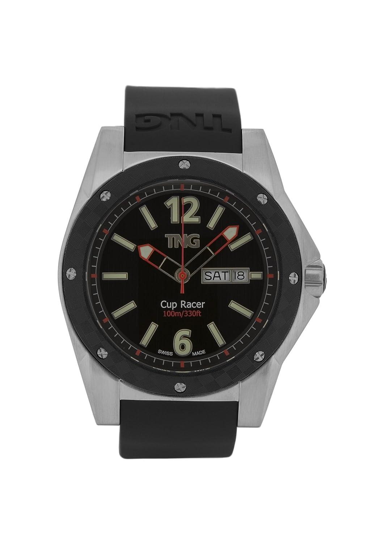 TNG Herren-Armbanduhr Analog Plastik Schwarz TG667.30571.12PV
