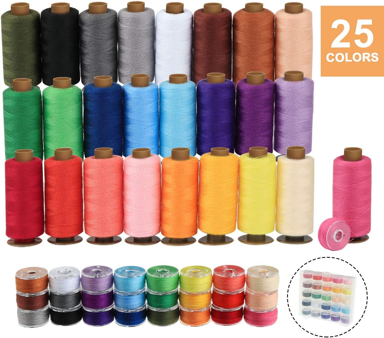 The best thread for quilting and sewing-ilauke Bobbin Sewing Kit