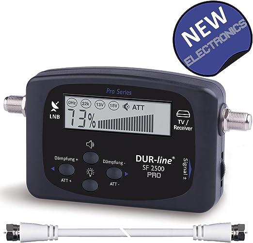 Durable de Line® SF 24 x x – Satfinder – Medidor para una justierung exacta su Antena de satélite Digital – con Alta sensibilidad de Entrada – Incluye ...