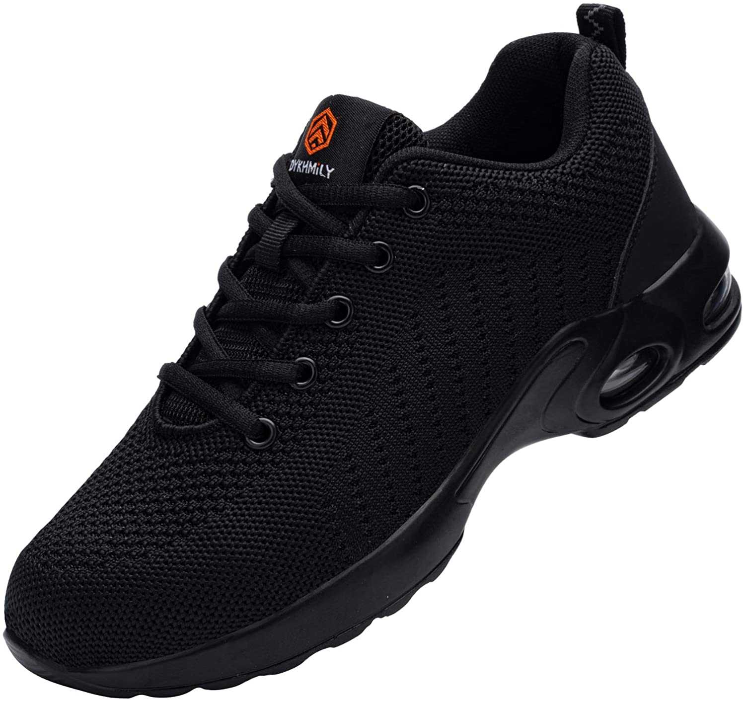 DYKHMILY Steel Toe Shoes for Men Women Lightweight Safety Shoes Slip Resistant Breathable Puncture Proof Work Sneakers