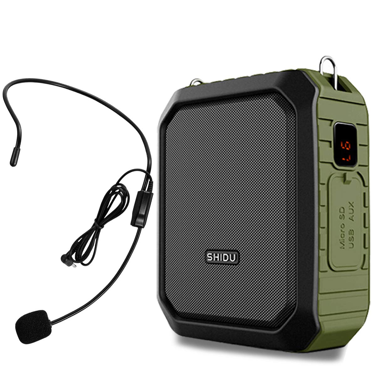 Voice Amplifier Portable with Wired Headset Microphone 18W 4400mAh Support Bluetooth Speaking Recording Waterproof Powerbank for Outdoors Teachers Tour Guide Whisper M800