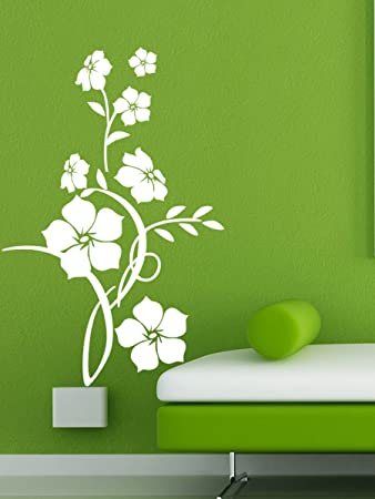 buy trends on wall flower design wall decal 60 cm x 93 cm online rh amazon in wall flower design images wall flower design ideas