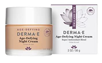 Derma E, Age-Defying Night Creme, 2 oz (pack of 2) Disposable Mini Portable DIY Beauty Skin Care Bamboo Charcoal Compressed Facial Mask - Pack of 100 - Black