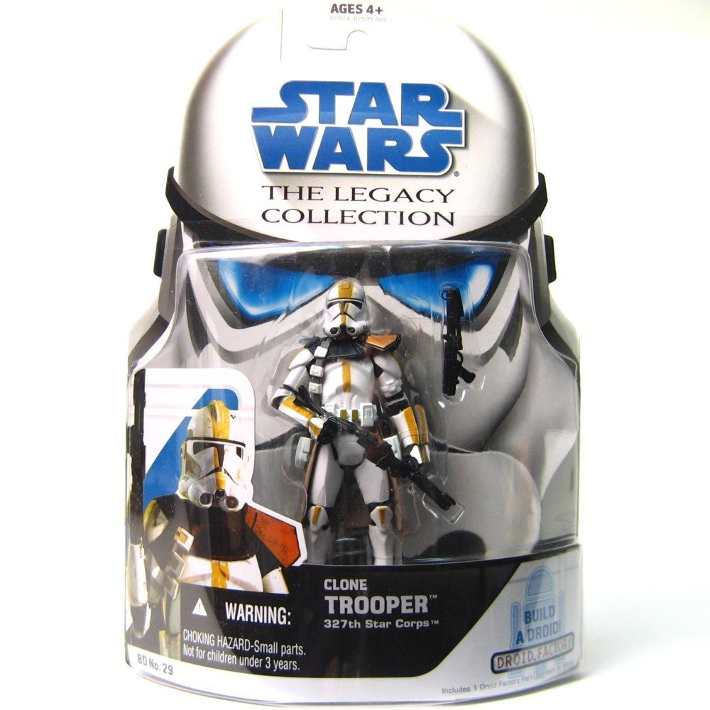 Star Wars Clone Wars Legacy Collection Build-A-Droid Factory Action Figure BD No 29 327th Star Corps Clone Trooper Hasbro 87824