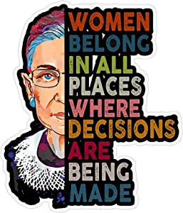 KDRose 2020NEW 3PC Ruth Bader Ginsburg//Stickers for Laptop Decal Wall Laptop Bumper Sticker//car//Waterproof