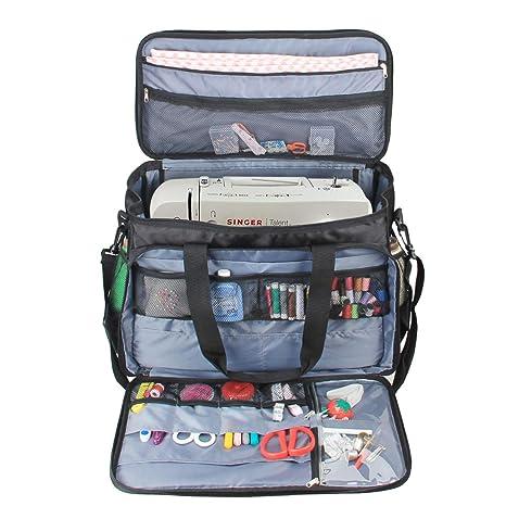 luxja máquina de coser bolsa de transporte, bolsa para ...