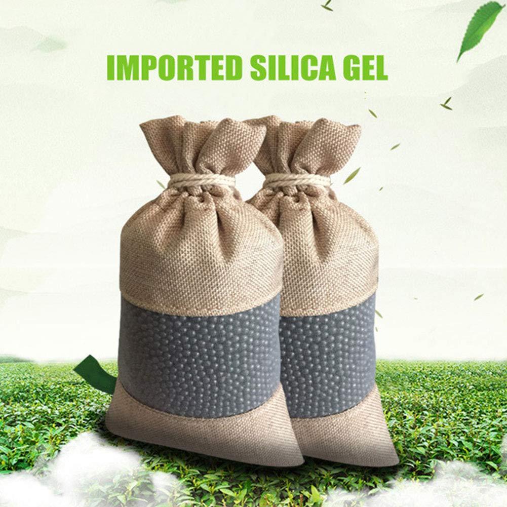 per casa Purificatore daria armadio ufficio confezione da 2 sacchetti deodoranti al carbone attivo naturale elimina gli odori auto bagno filtro ai carboni attivi